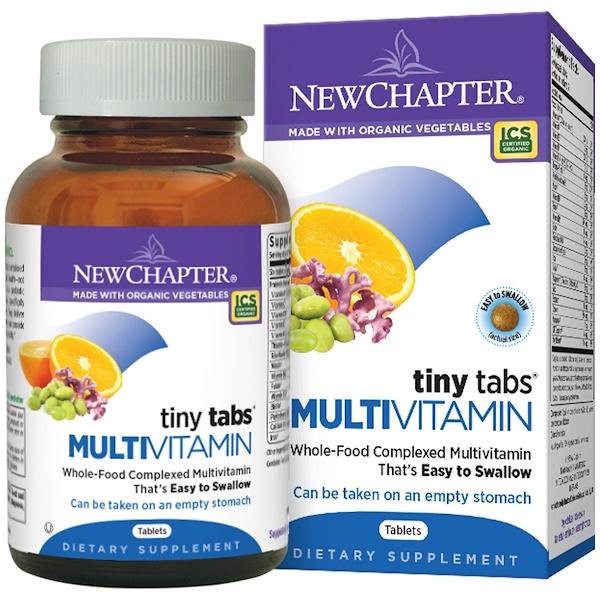 New Chapter, Органика, мультивитамины, Tiny Tabs, 192 таблетки