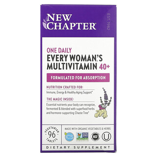 New Chapter, 40+ Every Woman's One Daily Multivitamin, 96 Vegetarian Tablets