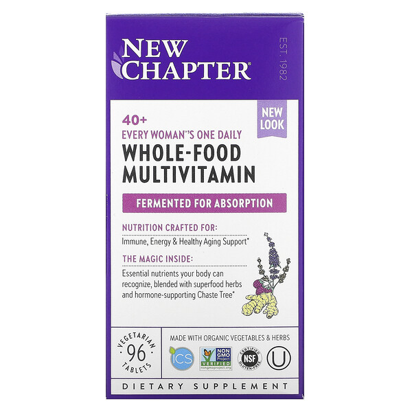New Chapter, 40+ Every Woman's One Daily, Whole-Food Multivitamin, 96 Vegetarian Tablets