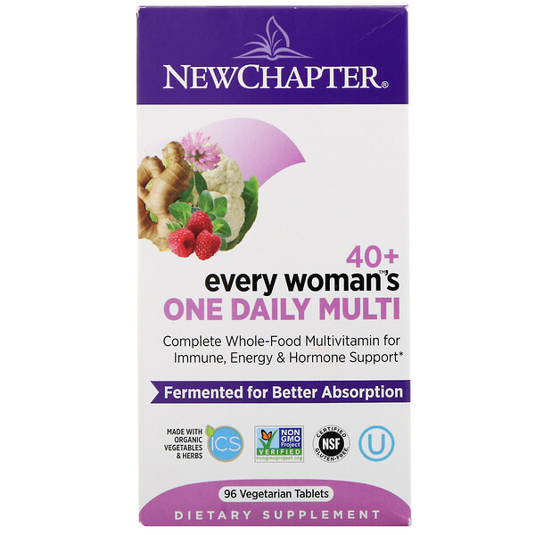 New Chapter, 40+ Every Woman's One Daily Multi, 96 Vegetarian Tablets