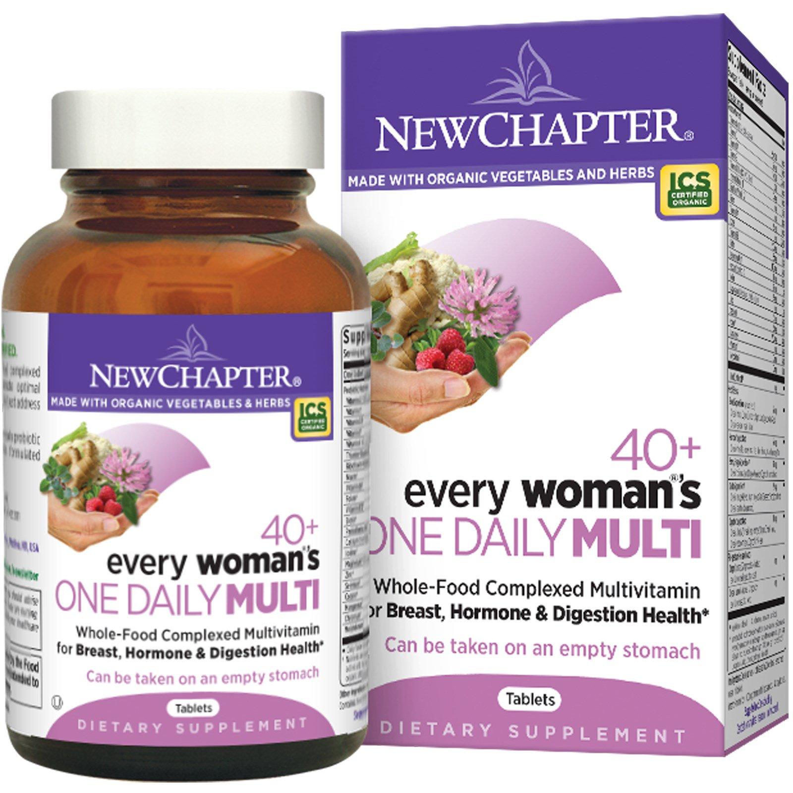 """New Chapter, Мультивитамины для всех женщин за 40+ """"Одна в день"""", 48 таблеток"""