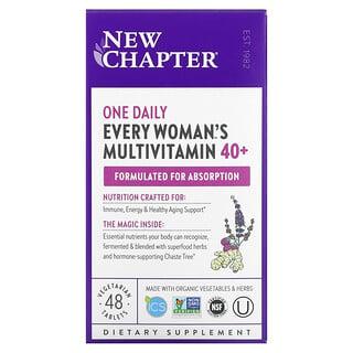 New Chapter, 40+ Every Woman™ 女性每日一片天然食物素食复合维生素,48 片素食片