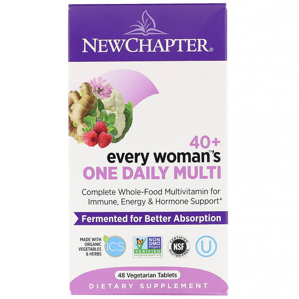 New Chapter, 40+ Every Woman's One Daily Multi, 48 Vegetarian Tablets
