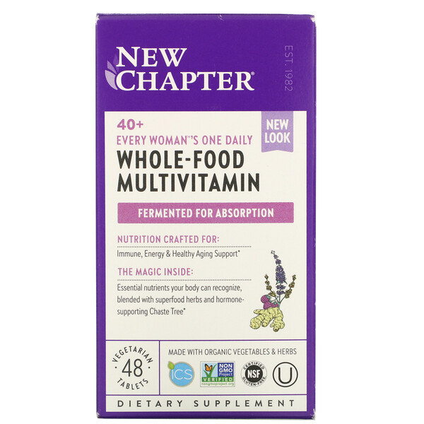New Chapter, 40+ Every Woman's One Daily Whole-Food Multivitamin, 48 Vegetarian Tablets