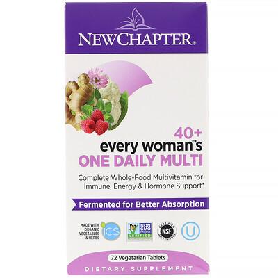 Купить 40+ Every Woman's One Daily Multi, мультивитамины для женщин после 40, 72растительные таблетки