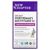 New Chapter, 40+ Every Woman's One Daily, витаминный комплекс на основе цельных продуктов для женщин старше 40лет, 72вегетарианские таблетки