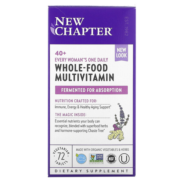 40+ Every Woman's One Daily, Whole-Food Multivitamin, 72 Vegetarian Tablets