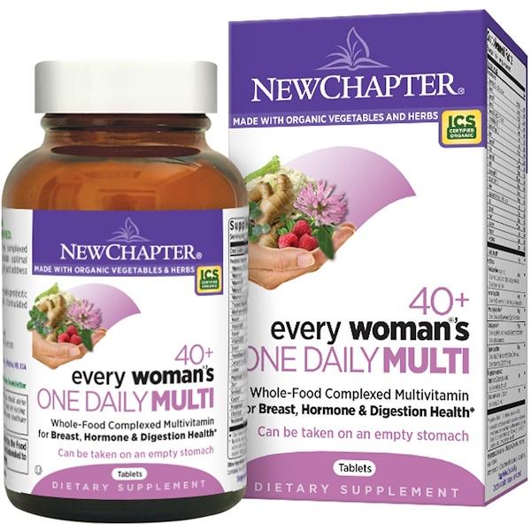 New Chapter, 40+女性專用每日綜合營養片,72片
