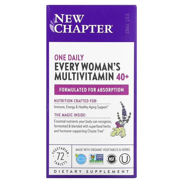 40+ Every Woman's One Daily, витаминный комплекс на основе цельных продуктов для женщин старше 40лет, 72вегетарианские таблетки