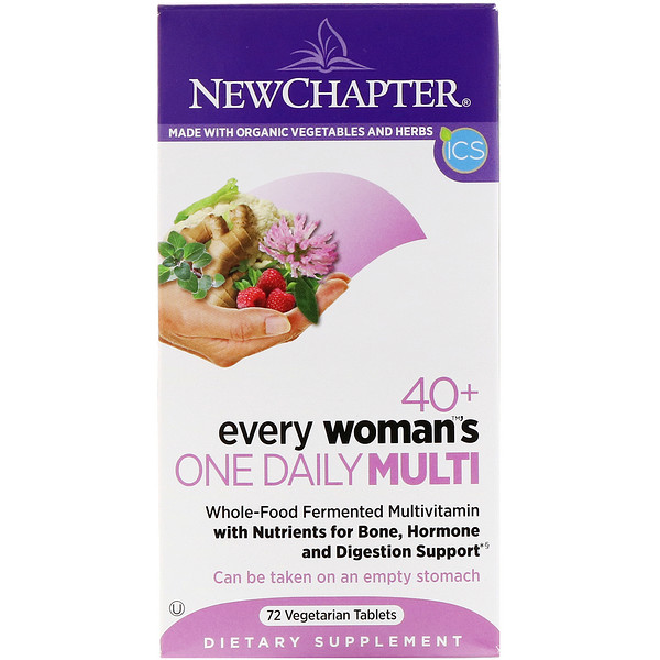 New Chapter, 40+ Every Woman's One Daily Multi, 72 Vegetarian Tablets