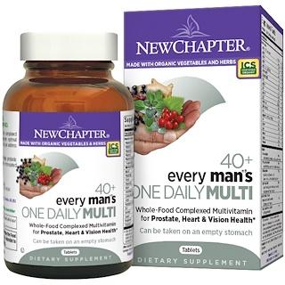 New Chapter, 40+ ежедневный комплекс мультивитиминов для мужчин, 48 таблеток