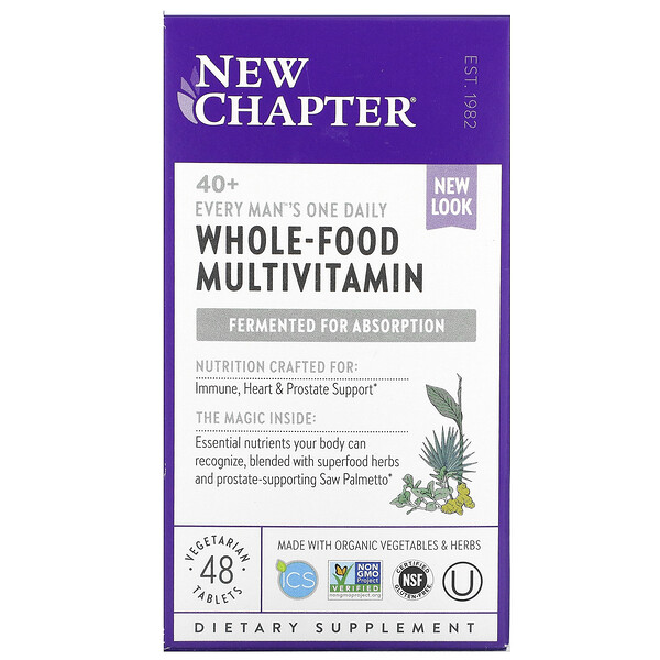 New Chapter, Multivitamine für den Mann ab 40, 48 vegetarische Tabletten