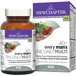 New Chapter, 40+ Every Man's One Daily Multi, 72 Tabletas