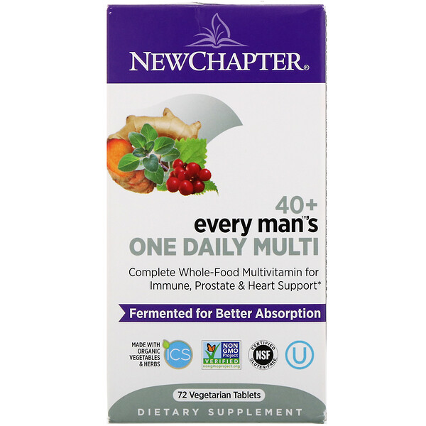 40+ Every Man's One Daily Multi, 72 Vegetarian Tablets
