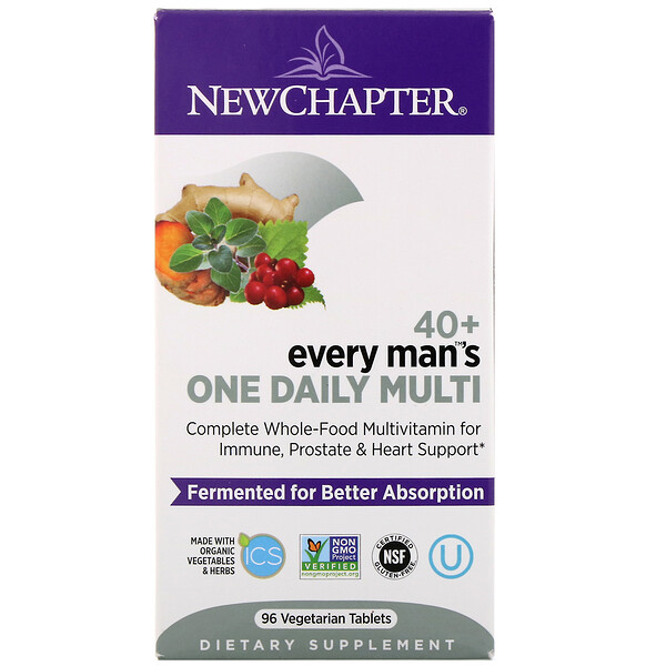 New Chapter, 40+ Every Man's One Daily Multi, 96 Vegetarian Tablets
