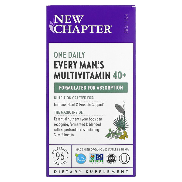 40+ Every Man's One Daily Multivitamin, 96 Vegetarian Tablets