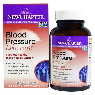 Blood Pressure, Take Care, 30 Vegetarian Capsules