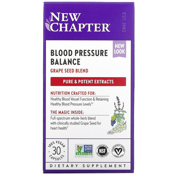 New Chapter, Blood Pressure Balance, Take Care, 30 Vegan Capsules (Discontinued Item)