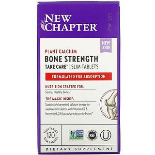 New Chapter, BoneStrengthTakeCare, Suplemento para el cuidado y la fortaleza de los huesos, 120comprimidos vegetales delgados