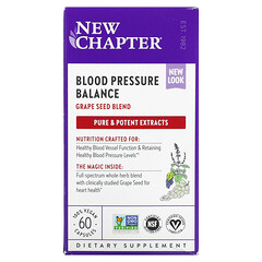New Chapter, 血壓平衡配方,60 粒全素膠囊
