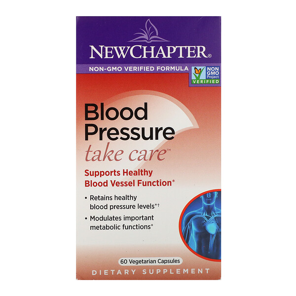 New Chapter, Blood Pressure, Take Care, 60 Vegetarian Capsules
