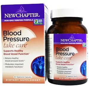 New Chapter, Кровяное давление, Take Care, 60 вегетарианских капсул