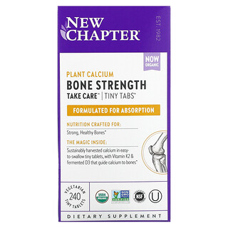 New Chapter, Plant Calcium Bone Strength Take Care, 240 Vegetarian Tiny Tablets