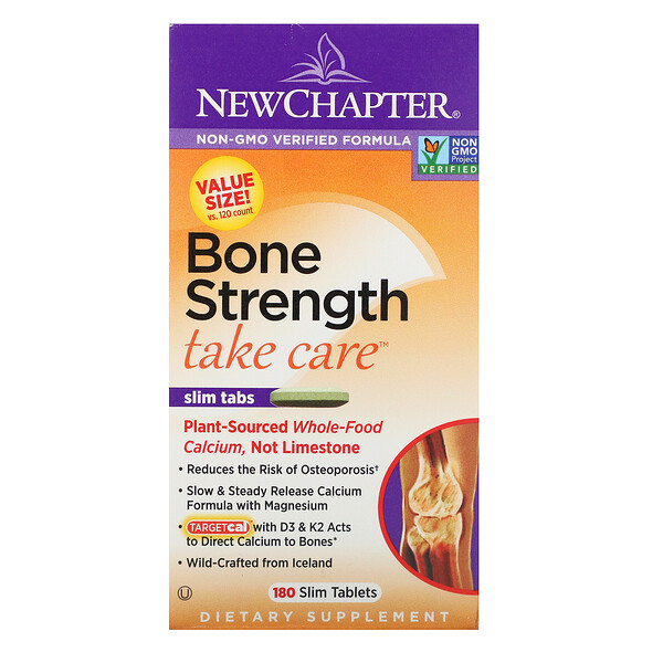 New Chapter, Bone Strength Take Care, 180 טבליות דקות