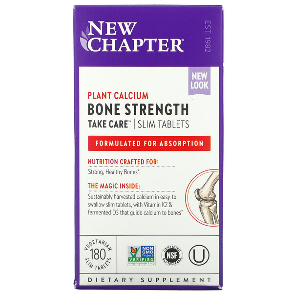 New Chapter, Bone Strength Take Care, 180 Vegetarian Slim Tablets