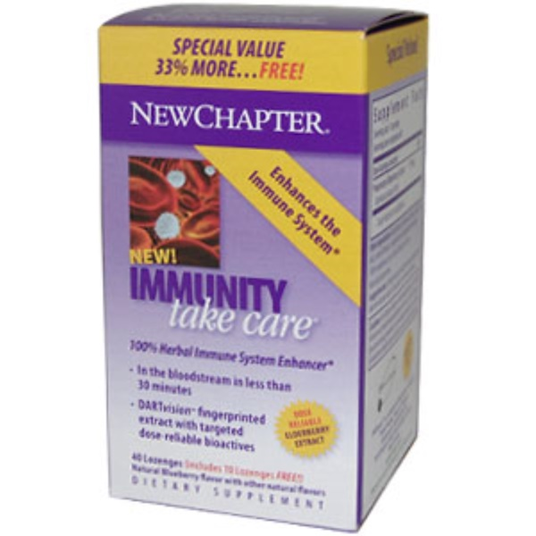 New Chapter, Immunity Take Care, 40 Lozenges (Discontinued Item)
