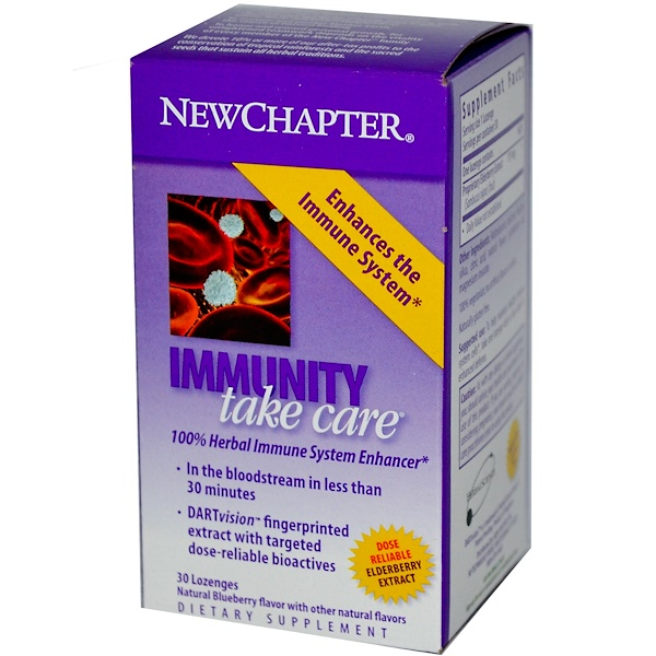 New Chapter, Immunity Take Care, Blueberry Flavor, 30 Lozenges (Discontinued Item)