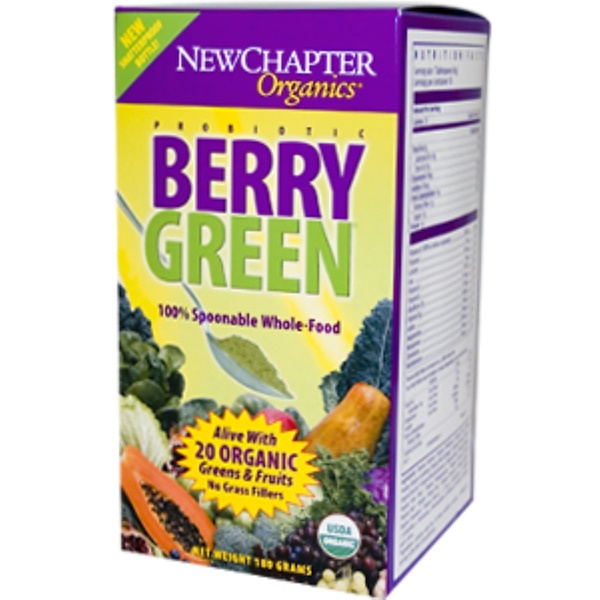 New Chapter, Organic, Berry Green, 180 g Powder (Discontinued Item)