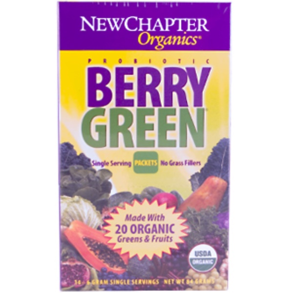 New Chapter, Berry Green (Probiotic), 14 Individually Wrapped Single Serving Packets (Discontinued Item)