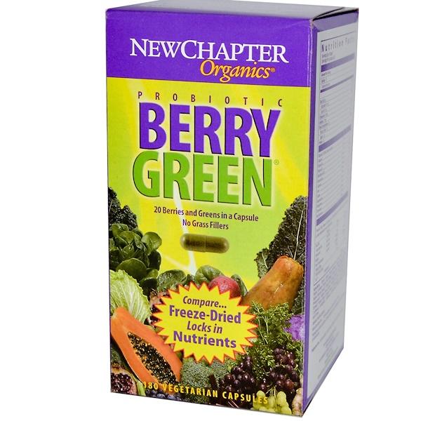 New Chapter, Organics, Berry Green, 180 Veggie Caps (Discontinued Item)