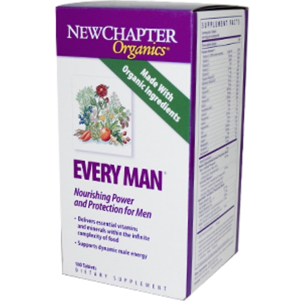 New Chapter, Organics, Every Man, 180 Tablets (Discontinued Item)