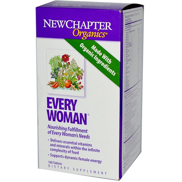 New Chapter, Organics, Every Woman, 180 Tablets (Discontinued Item)
