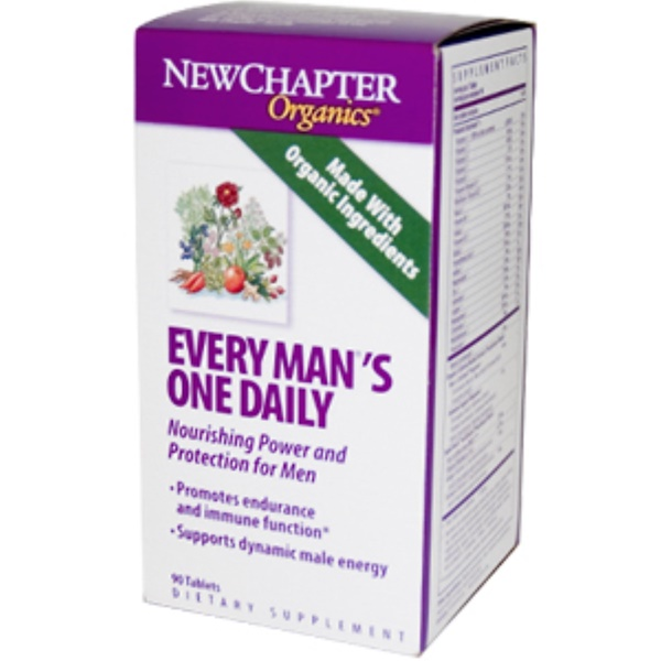 New Chapter, Organics, Every Man's One Daily, 90 Tablets (Discontinued Item)