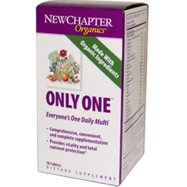 New Chapter, Organics, Only One, 90 Tablets (Discontinued Item)