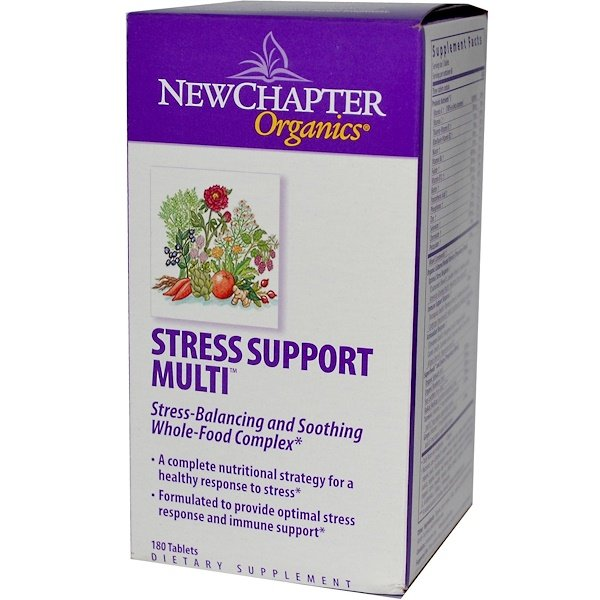 New Chapter, Organics, Stress Support Multi, 180 Tablets (Discontinued Item)