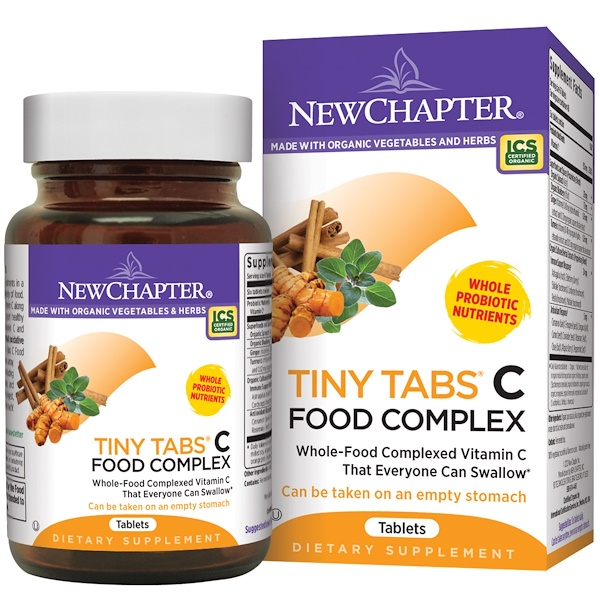 New Chapter, Tiny Tabs C Food Complex, 240 Tablets (Discontinued Item)