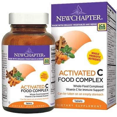 Активированный пищевой комплекс с витамином С, 180 вегетарианских таблеток