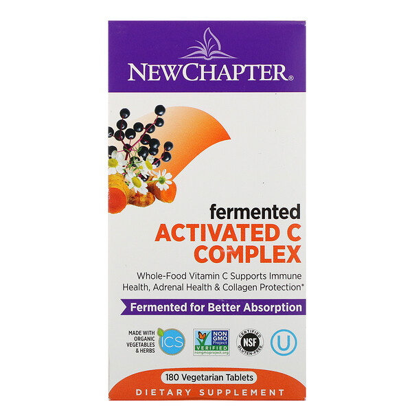 New Chapter, Fermented Activated C Complex, 180 Vegetarian Tablets