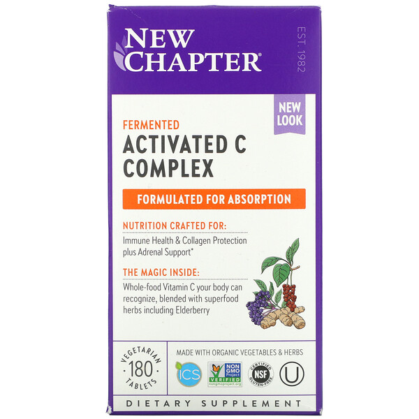 Fermented Activated C Complex, 180 Vegetarian Tablets