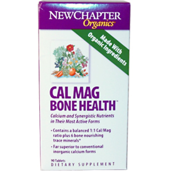 New Chapter, Organics, Cal Mag Bone Health, 90 Tablets (Discontinued Item)