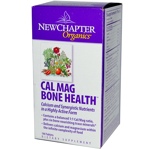 New Chapter, Organics, Cal Mag Bone Health, 180 Tablets (Discontinued Item)