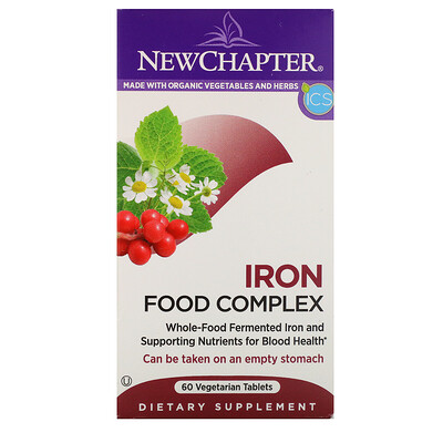 New Chapter Iron, Food Complex, 60 Vegetarian Tablets
