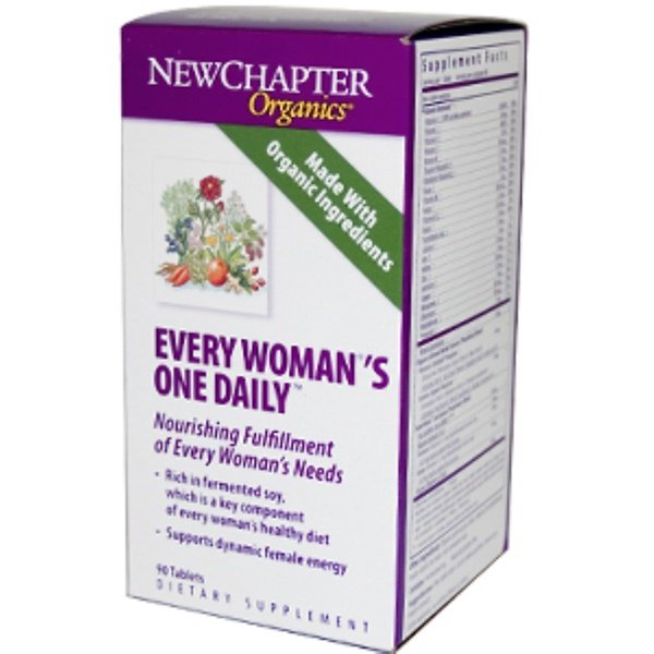 New Chapter, Organics, Every Woman's One Daily, 90 Tablets (Discontinued Item)