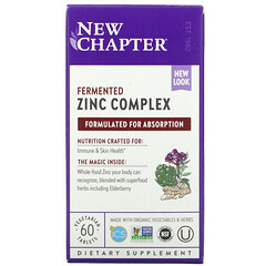 New Chapter, 發酵鋅複合物,60 片素食片