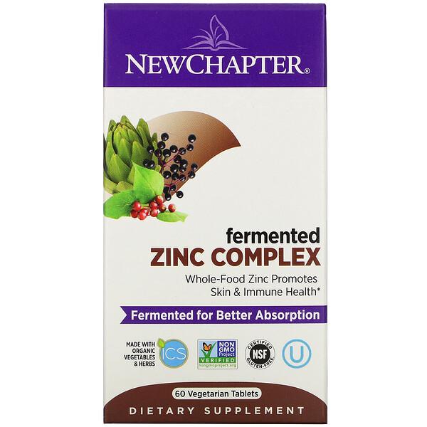 New Chapter, Complejo de zinc fermentado, 60comprimidos vegetales