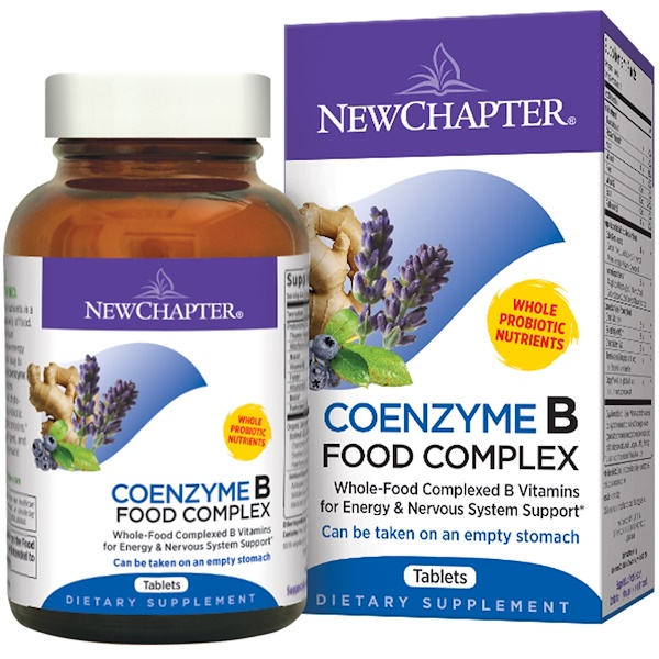 New Chapter,  Coenzyme B, Food Complex, 180 Tablets (Discontinued Item)